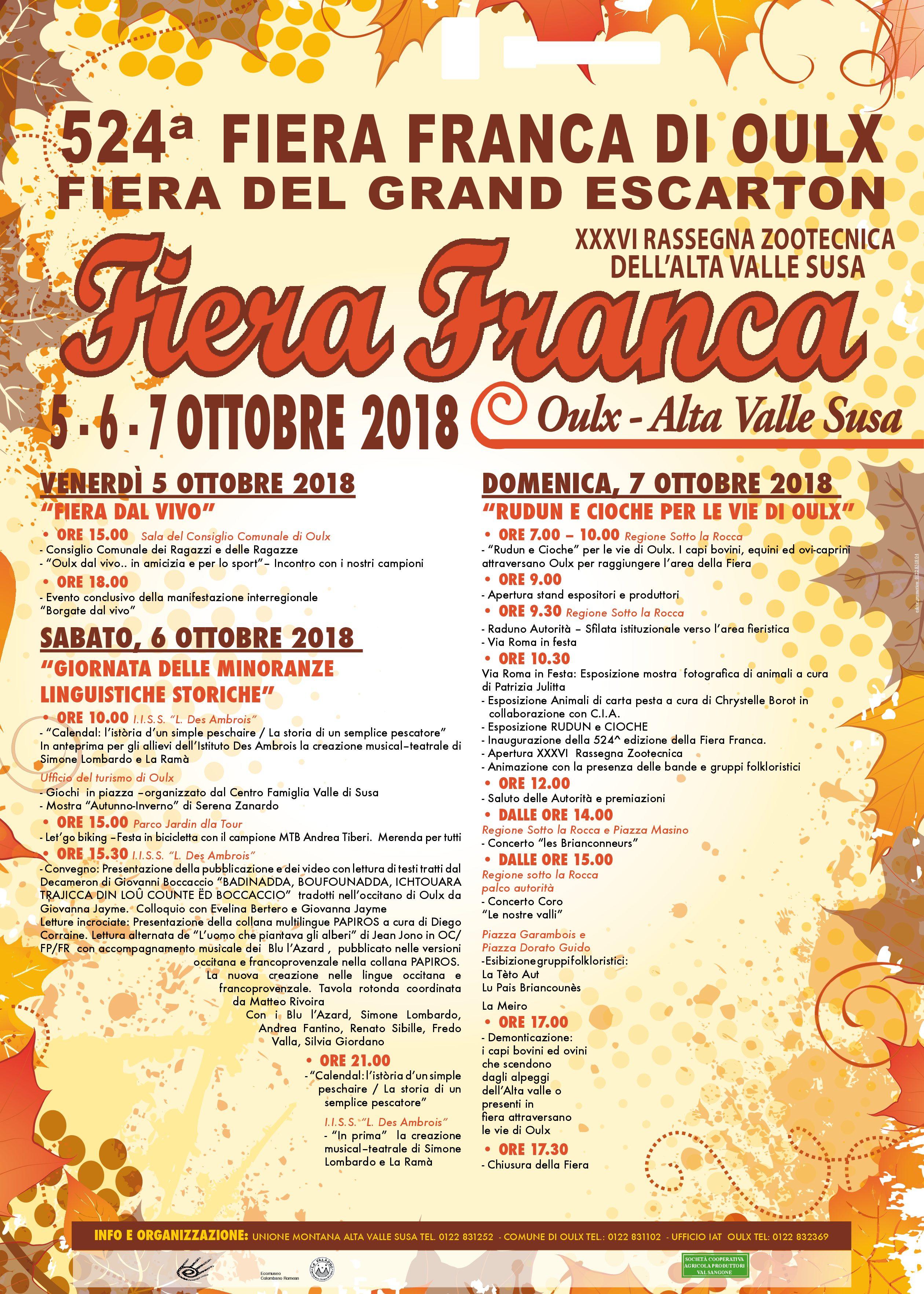 FIERA FRANCA DI OULX 2018